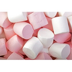 Marshmallow Pink & White